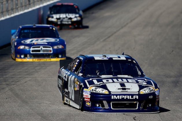 Jimmie Johnson leads Brad Keselowski by one point after two Chase races. (Getty)