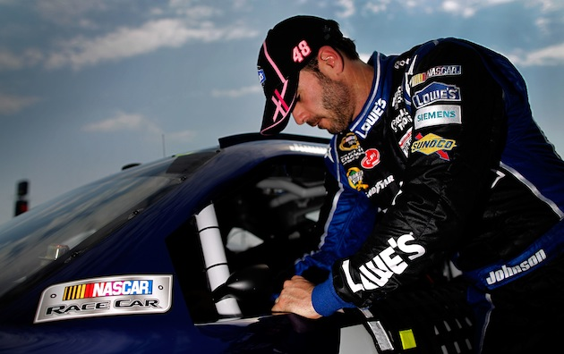 Jimmie Johnson is second in the points standings to Brad Keselowski. (Getty)