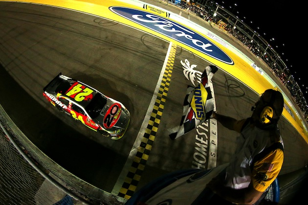 The final race with the DuPont name on Jeff Gordon's No. 24 was a win. (Getty)