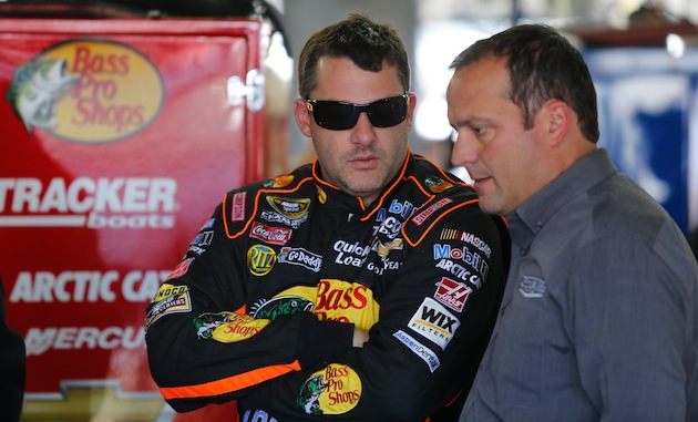 Tony Stewart and Greg Zipadelli. (Getty)