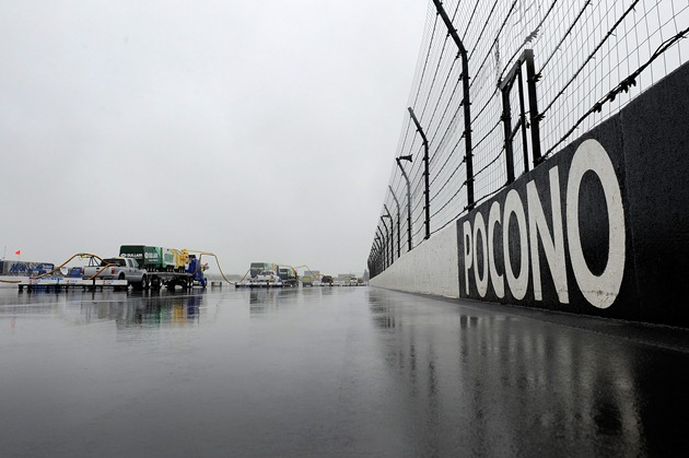 Air Titan was no match for the rain at Pocono Friday. (Getty)