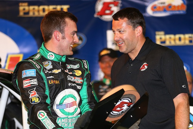 Austin Dillon won at Tony Stewart's track in July, and now he's driving his car. (Getty)