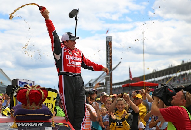 Ryan Newman celebrates at Indianapolis (Getty)