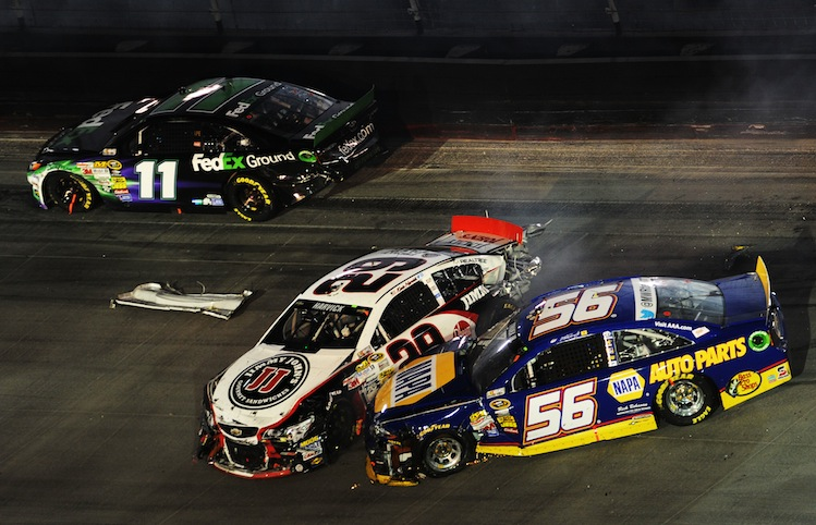 Martin Truex Jr. was injured in this crash. (Getty)
