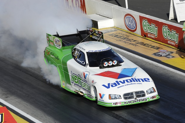 Jack Beckman was the top Funny Car qualifier Thursday at Pomona (AP)
