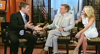 Carl Edwards with Regis and Kelly