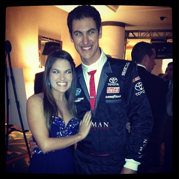 Joey Logano dons his awesome firesuit suit one more time. (Via @JoeyLogano)