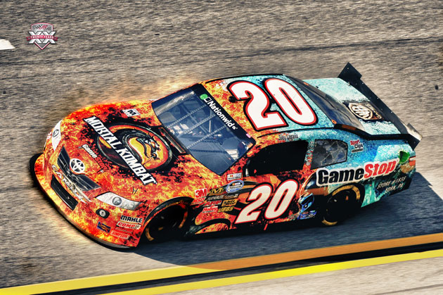Mortal Kombat, NASCAR style. / Courtesy Joe Gibbs Racing