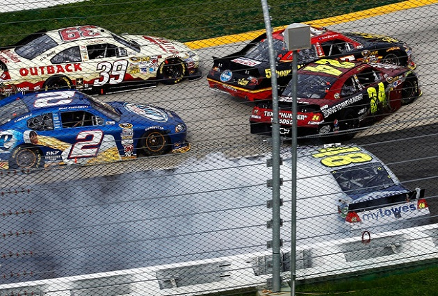 The wreckage at Martinsville. (Getty Images)