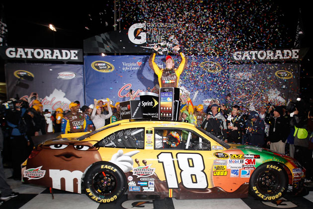 Kyle Busch celebrates in Richmond. (Getty Images)