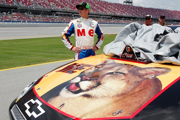 Kurt Busch and the ME car at Talladega. (Getty Images)