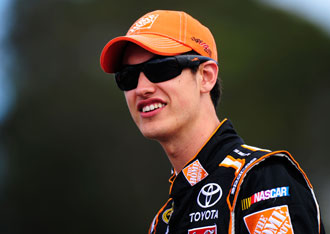 Joey Logano is about to surrender the orange. (Getty Images)