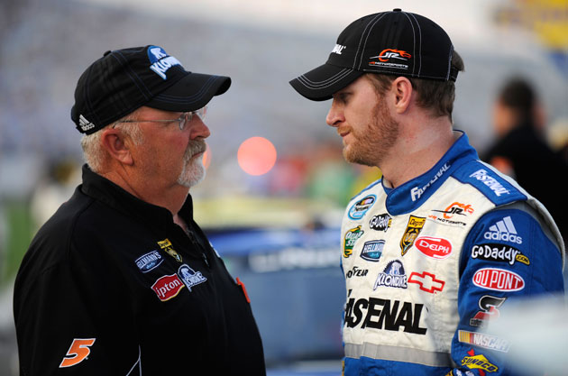 Tony Eury Sr. and Dale Earnhardt Jr. (Getty Images)