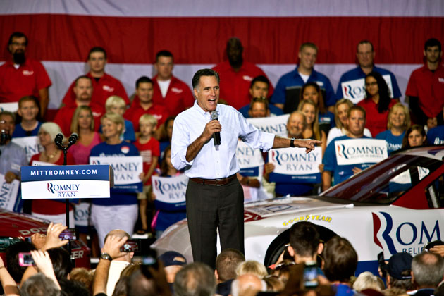 Mitt Romney campaigns in North Carolina. (Getty Images)