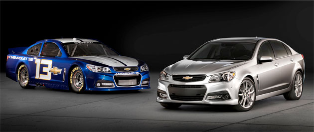 The new Chevy SS race and consumer models (Via Chevrolet)