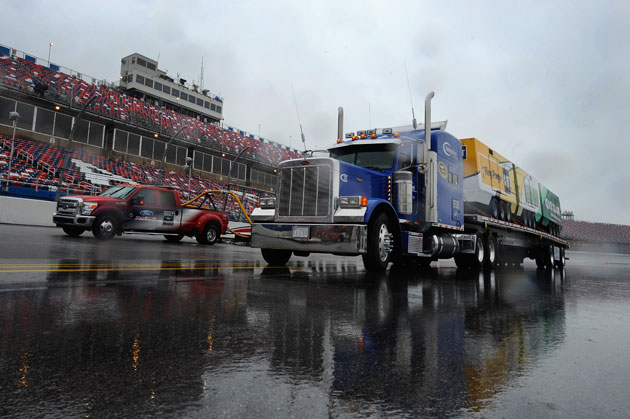 The Air Titan track-drying system would be a good NASCAR fantasy pick this weekend. (Getty Images)