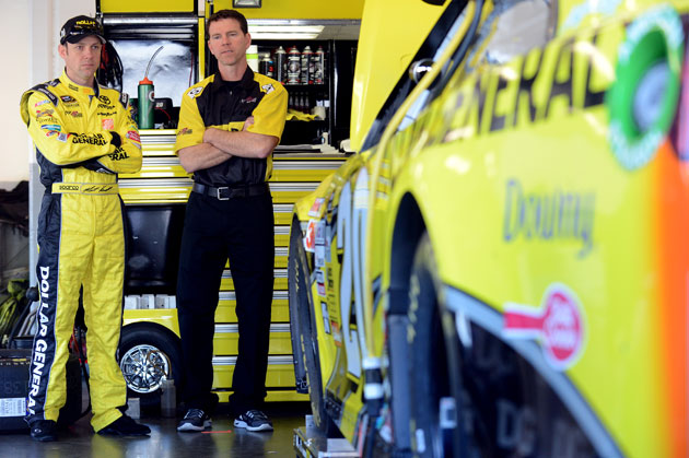 Matt Kenseth and Jason Ratcliff. (Getty Images)