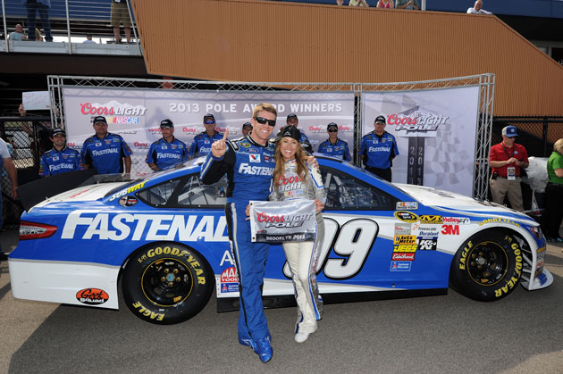 Carl Edwards, pole position. (Getty Images)
