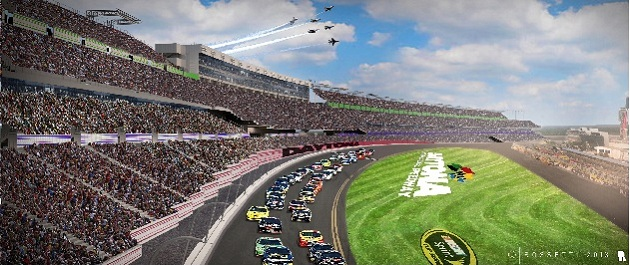 The Daytona redesign. (Courtesy Daytona International Speedway)
