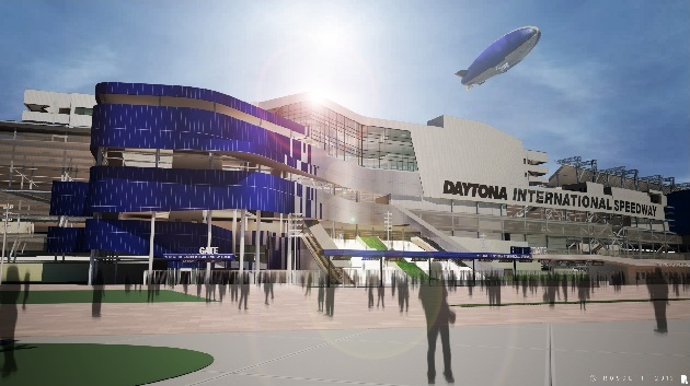 The new entrance. (Courtesy Daytona International Speedway)