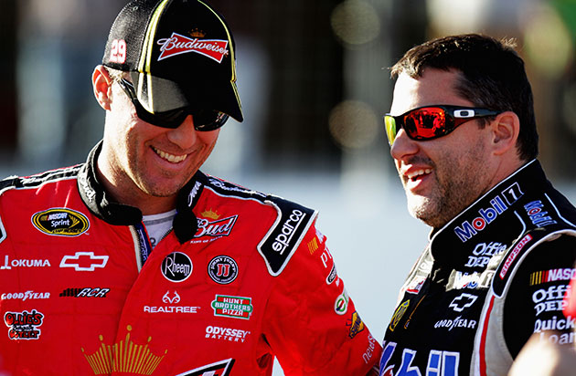 Kevin Harvick and Tony Stewart. (Getty Images)
