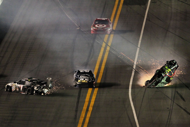 Don't expect the Daytona 500 to look like this. (Getty)