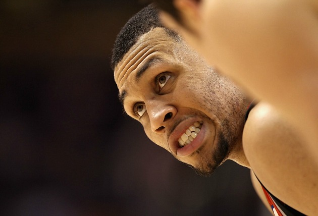 Brandon Roy looks temporarily uneasy (Christian Petersen/ Getty).
