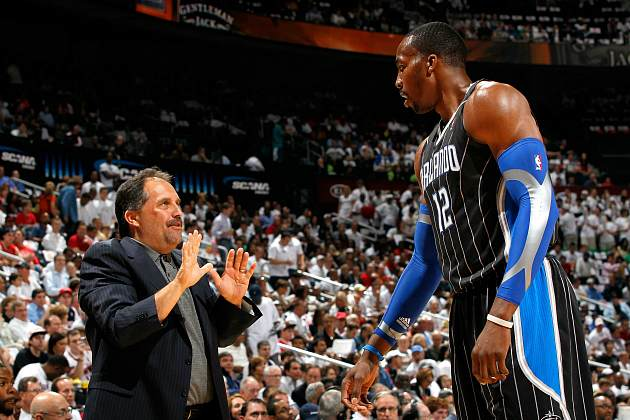 Stan Van Gundy never said he wanted to fight, Dwight Howard (Kevin C. Cox/ Getty).