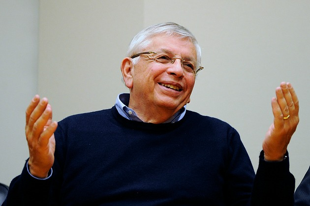 David Stern pretends he liked a joke (Patrick McDermott/ Getty).