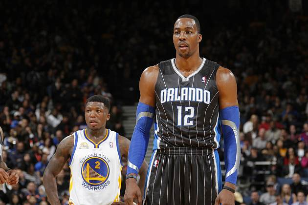 Dwight Howard considers hanging out with Nate Robinson for a whole season (Rocky Widner/ Getty).