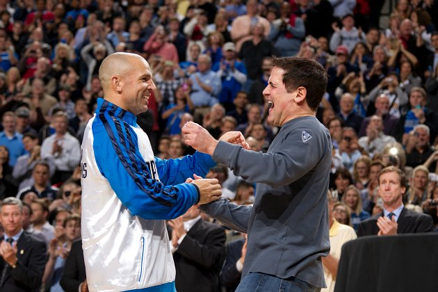 Jason Kidd and Mark Cuban, in bro-ier times (Nathaniel S. Butler/ Getty).