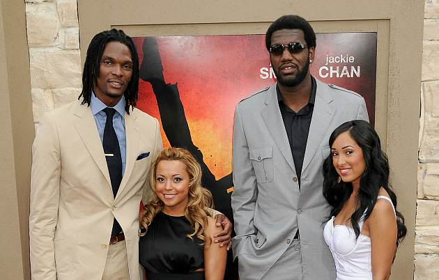 "Chris Bosh and Greg Oden attend the ""Karate Kid"" premiere, because duh (Gregg DeGuire/ FilmMagic)."