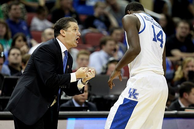 John Calipari begs Michael Kidd-Gilchrist to stay another year (Andy Lyons/ Getty).