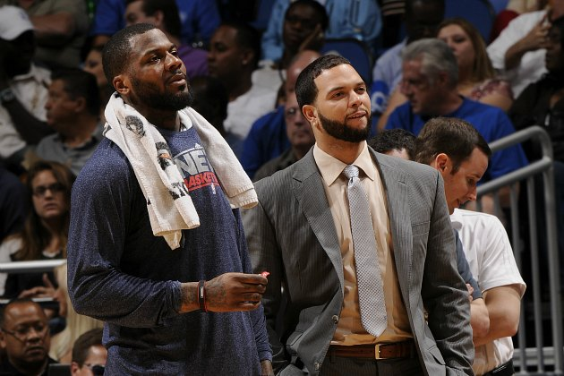 DeShawn Stevenson and Deron Williams survey all they have built (Fernando Medina/ Getty).