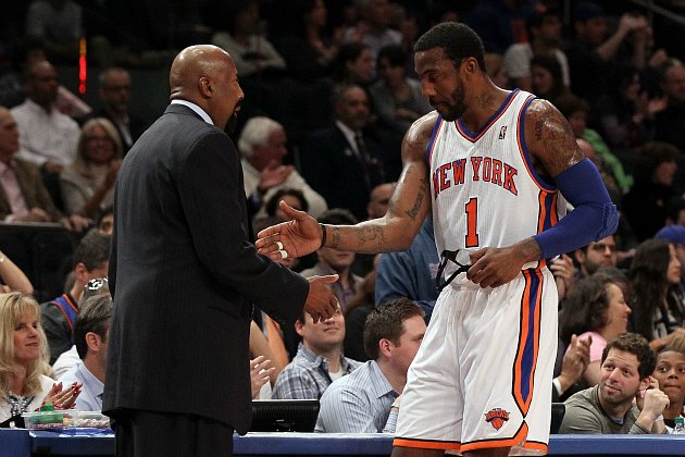 "Amar'e Stoudemire confuses ""The Dream Shake"" for a dance craze (Jim McIsaac/ Getty)."