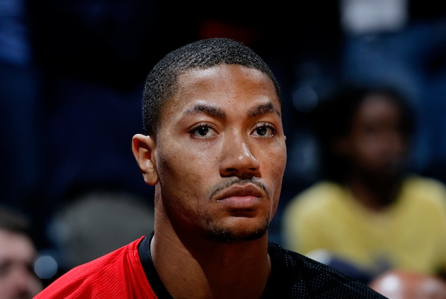 Derrick Rose is not pleased (Kevin C. Cox/ Getty).