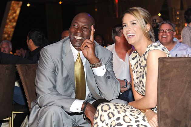 Michael Jordan (left) and Yvette Prieto flash their biggest smiles (Ethan Miller/ Getty).