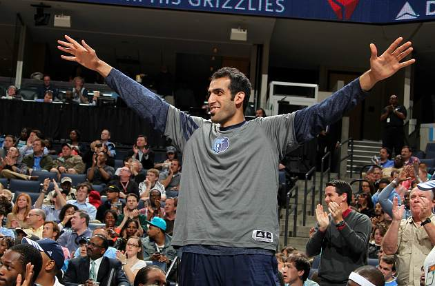 Hamed Haddadi saw an elephant THIS BIG (Joe Murphy/ Getty).