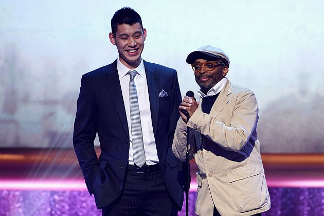 One lucky Knicks fan spends an evening with Jeremy Lin (Jason Kempin/ WireImage).
