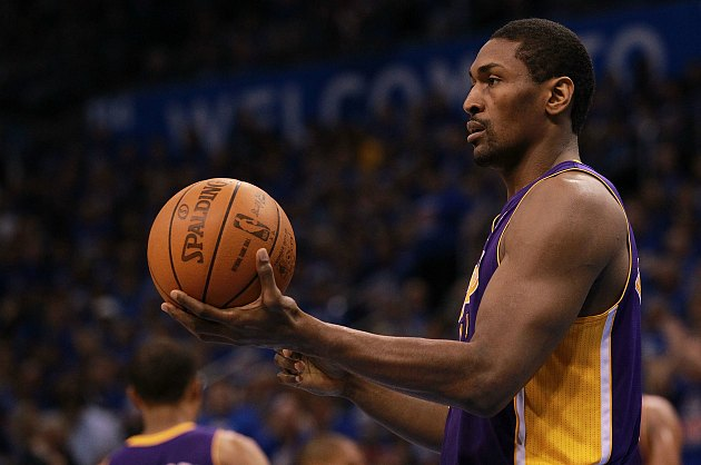 """To foul or not to foul, that is the question,"" said Metta World Peace (Ronald Martinez/ Getty)."