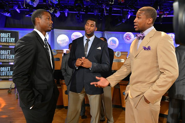 Thomas Robinson (right) tells everyone how great he is (Jesse D. Garrabrant/ Getty).