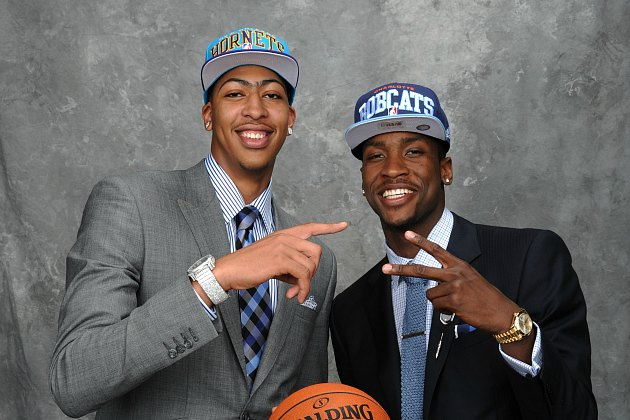 Top picks Anthony Davis and Michael Kidd-Gilchrist face off on November 9 (Jennifer Pottheiser/ Getty).
