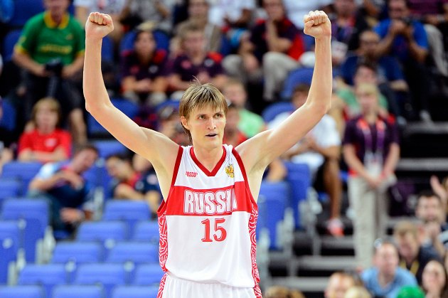 Photographic evidence that Andrei Kirilenko is not American (Ronald Martinez/ Getty).