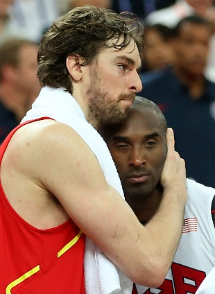 Pau Gasol and Kobe Bryant (Christian Petersen/ Getty)