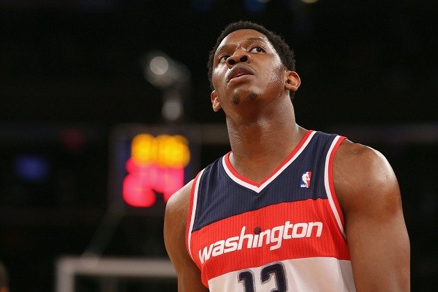 Kevin Seraphin wonders if he can ask for two presents next year (Bruce Bennett/ Getty).