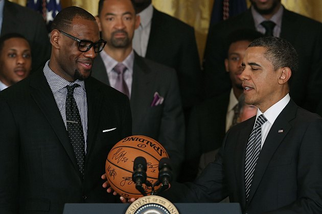 LeBron James threatens a coup against President Barack Obama (Mark Wilson/ Getty).