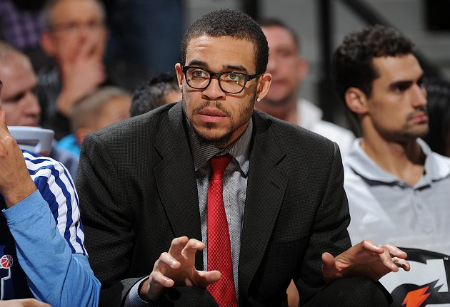 JaVale McGee is ready for his closeup (Garrett Ellwood/ Getty).