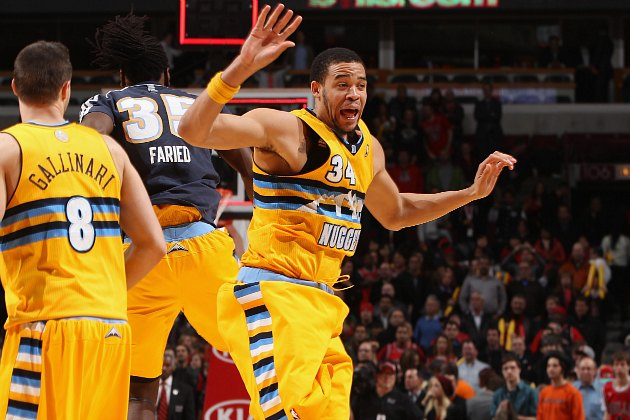 JaVale McGee makes a very normal face (Gary Dineen/ Getty).