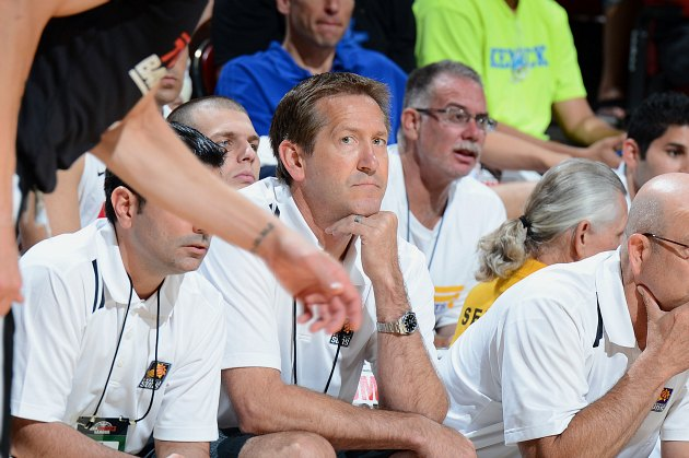 Jeff Hornacek pretends not to notice the camera (Garrett Ellwood/ Getty).