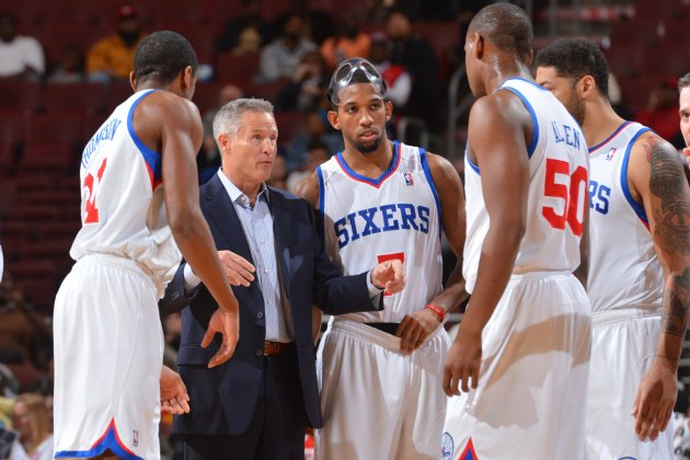 Head coach Brett Brown invites the Sixers to his poker game (Jesse D. Garrabrant/ Getty).